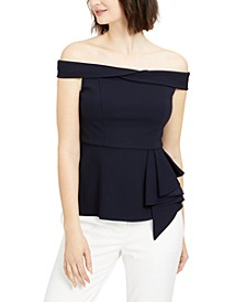 Petite Off-The-Shoulder Peplum Top