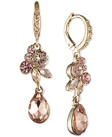 Crystal Cluster Double Drop Earrings