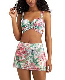 Five Way Bra Size Bikini Top & Mesh Layer Swim Skort