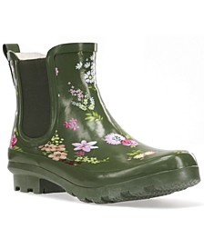 Women's Tranquil Floral Chelsea Ankle Rain boot