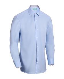 Men's Slim-Fit Cotton Dress Shirt