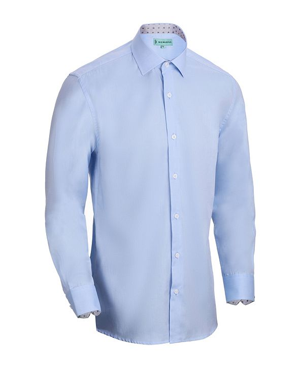 Mio Marino Men's Slim-Fit Cotton Dress Shirt