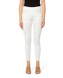 Pull-on High Rise Skinny Ankle Denim