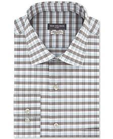 Men's Classic-Fit Flex Collar Ocean Check Dress Shirt