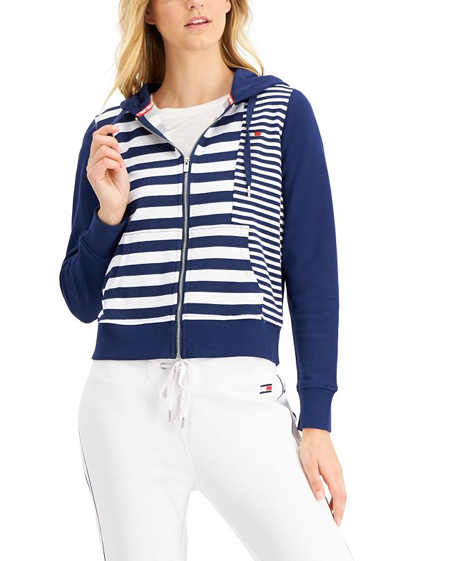 Tommy Hilfiger Striped Colorblocked Hoodie