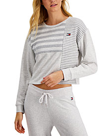 Tommy Hilfiger Sport Striped Colorblocked Top
