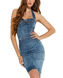 Christie Denim Halter Dress