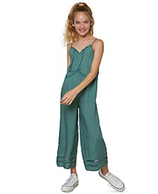 Big Girls Andee Wide-Leg Ladder Lace Jumpsuit