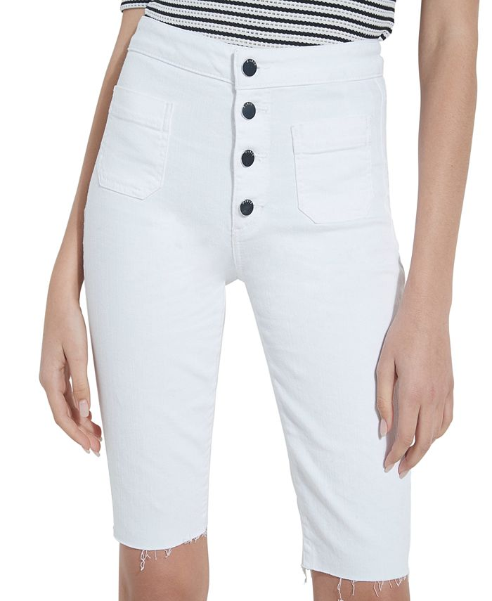 GUESS - Button-Fly Denim Bermuda Shorts