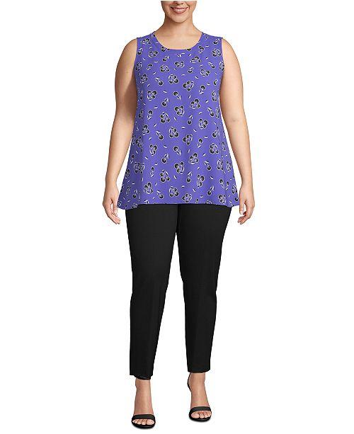 Anne Klein Plus Size High-Low Tunic