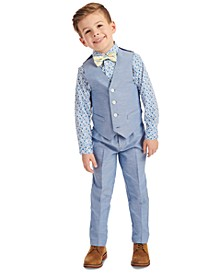 Little Boys 4-Pc. Floral Vest Set