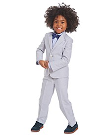 Toddler Boys 4-Pc. Gray Oxford Suit Set