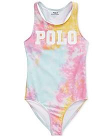 폴로 랄프로렌 걸즈 수영복 Polo Ralph Lauren Big Girls Tie-Dye One-Piece Swimsuit,Tie Dye