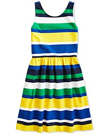 Big Girls Striped Stretch Jersey Dress