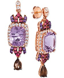 Multi-Gemstone Drop Earrings (7 ct. t.w.) in 14k Rose Gold