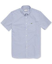 Men's Regular-Fit Gingham Poplin Cotton Shirt
