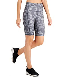 Camo-Print Bike Shorts, Created for Macy's
