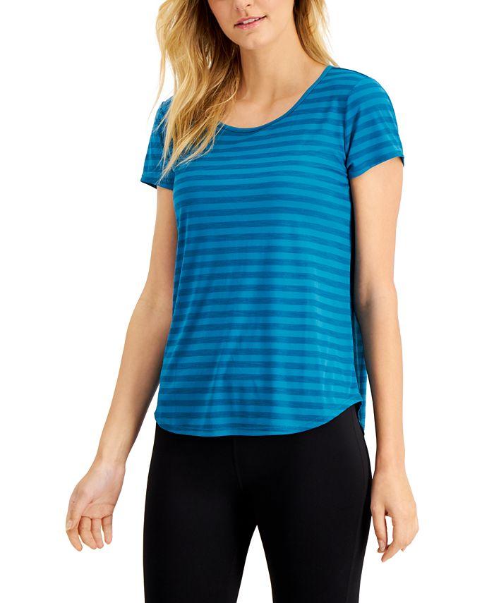 Ideology - Shadow-Striped Cutout-Back T-Shirt