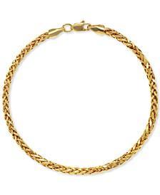 Wheat Link Chain Bracelet in 14k Gold