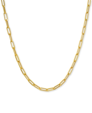 """Paperclip Link 24"""" Chain Necklace in 14k Gold"""