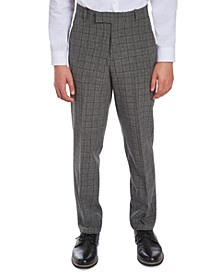 Big Boys Stretch Windowpane Suit Pants