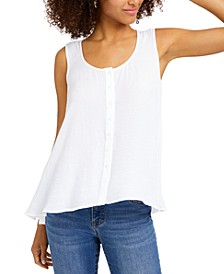 Sleeveless Button-Front Swing Top, Created for Macy's