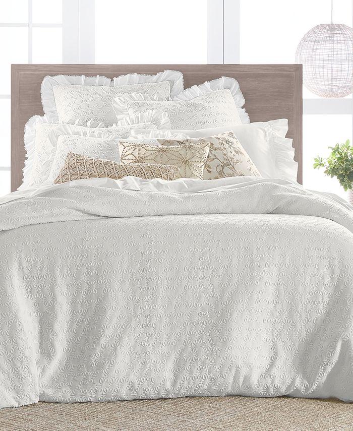 Lucky Brand - Textured Woven Cotton 3-Pc. King Duvet Set