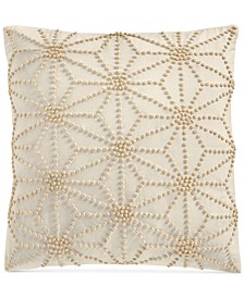"Sashiko Knots 18"" x 18"" Decorative Pillow, Created for Macy's"