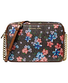 Jet Set East West Floral Logo Crossbody