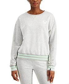 Striped Horseshoe-Graphic Sweatshirt