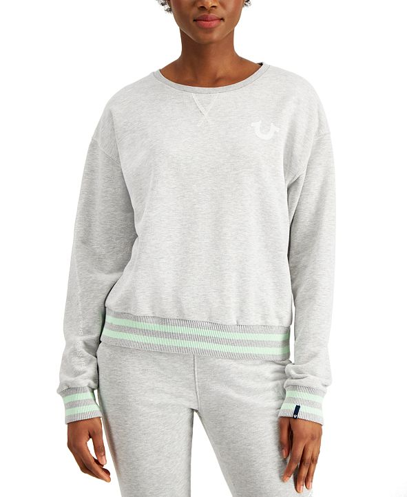 True Religion Striped Horseshoe-Graphic Sweatshirt