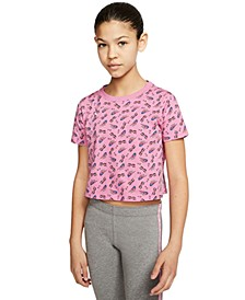 Big Girls Sunglass Crop T-Shirt