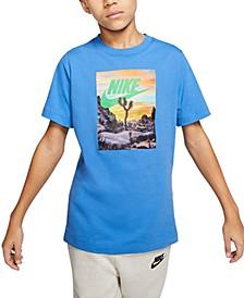 Big Boys Desert Logo Cotton T-Shirt