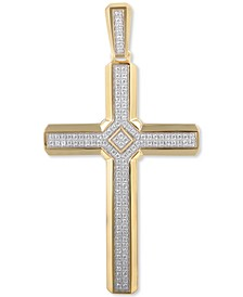 Men's Diamond Cross Pendant (1/2 ct. t.w.) in 10k Gold