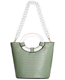 INC Tracyy Croco-Embossed Bucket Bag, Created for Macy's
