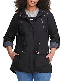 Trendy Plus Size Lightweight Parachute Cotton Hooded Jacket