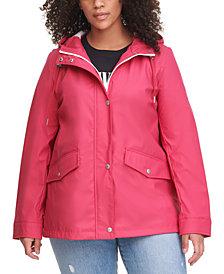 Levi's® Trendy Plus Size Hooded Lightweight Rain Jacket