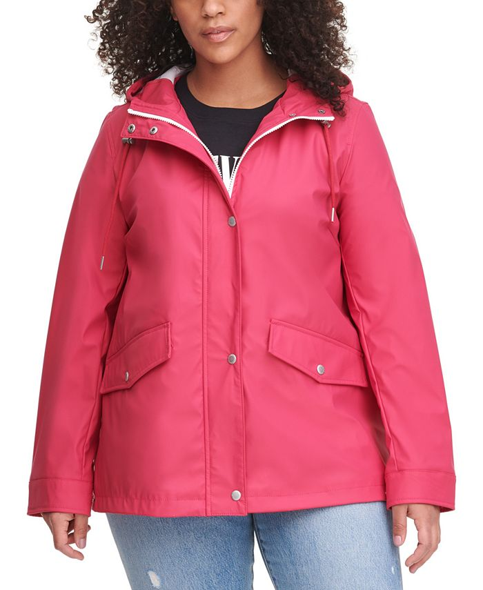 Levi's - Trendy Plus Size Hooded Lightweight Rain Jacket