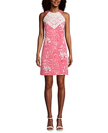 Mommy & Me Lace-Trim Floral-Print Halter Dress
