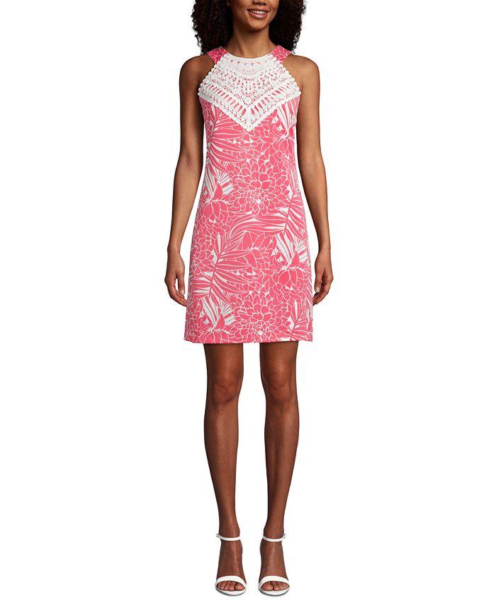 Pappagallo - Mommy & Me Lace-Trim Floral-Print Halter Dress