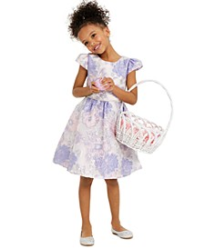 Little Girls Floral Burnout Dress