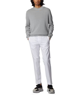 INC International Concepts Mens Off White Heather Flat Front Pants