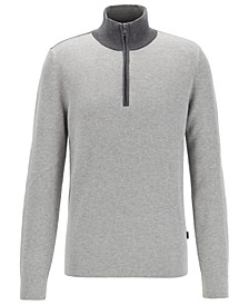 BOSS Men's Oneto Quarter-Zip Sweater