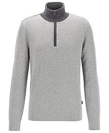BOSS Men's Oneto Quarter-Zip Sweater