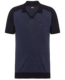 BOSS Men's Kohen Cotton-Linen Short-Sleeved Sweater