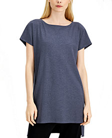 Eileen Fisher Boat-Neck High-Low Tunic