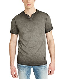 Men's Kawind Jersey Knit Henley T-Shirt