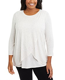 Plus Size Tiered Nursing Top