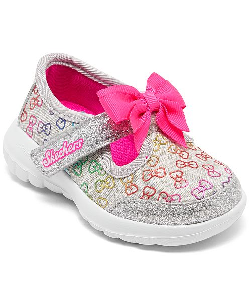 Toddler Girls' GOwalk Joy Sunshine Stepper T Strap Sporty Casual Sneakers from Finish Line