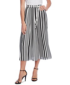 Striped Belted Skirt